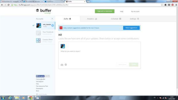 Cómo programar tuits con Buffer