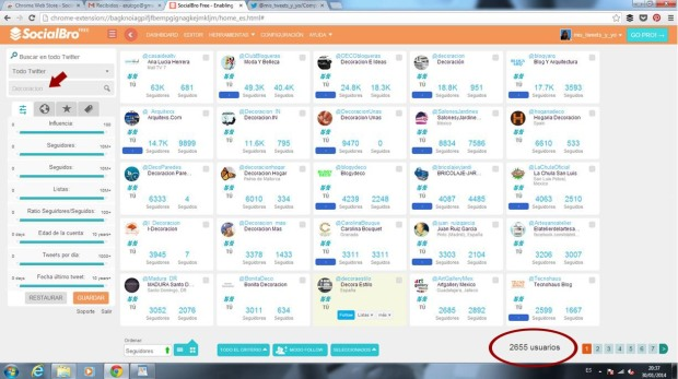 SocialBro - Gestión de twitter para Community Managers