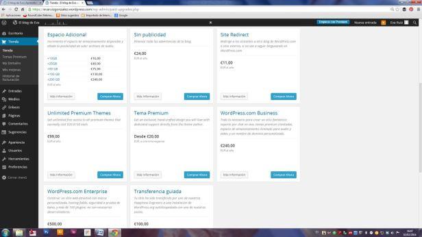 Wordpress desde cero - El Escritorio y la Tienda