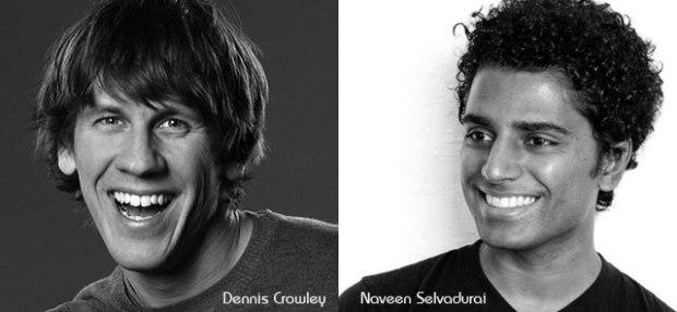 Fundadores Foursquare - Dennis Crowley y Naveen Selvadurai